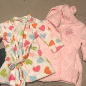 2 size 0-9 month robes